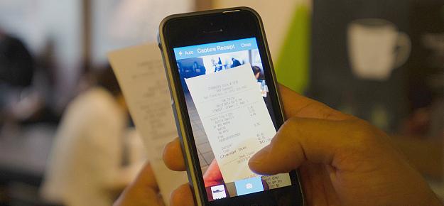 note de frais smartphone