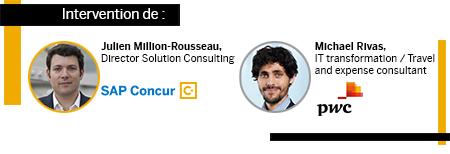 Intervention de Julien Million-Rousseau, SAP Concur, et de Michael Rivas, PwC
