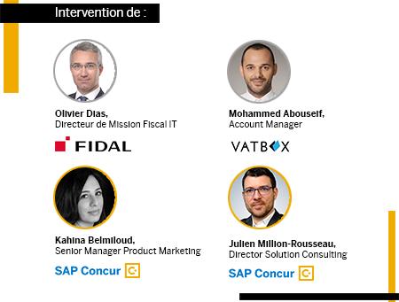 Avec Kahina Belmiloud, SAP Concur, Olivier Dias de Fidal, Mohammed Abouseif de VATBox et Julien Million-Rousseau de SAP Concur